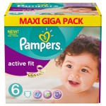 128 Couches Pampers Active Fit taille 6