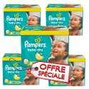 325 Couches Pampers Baby Dry taille 5+