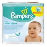 Maxi Pack 384 Lingettes Bébés de Pampers Fresh Clean sur auchan
