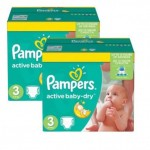 204 Couches Pampers Active Baby Dry taille 3