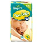 72 Couches Pampers New Baby Premium Protection taille 1