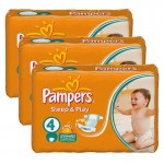 136 Couches Pampers Sleep & Play taille 4