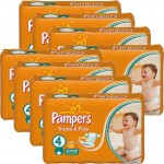 204 Couches Pampers Sleep & Play taille 4