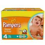 340 Couches Pampers Sleep & Play taille 4