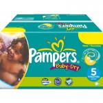 370 Couches Pampers Baby Dry taille 5