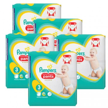 210 Couches Pampers Premium Protection Pants taille 3