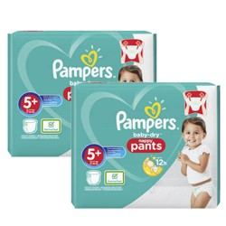 68 Couches Pampers Baby Dry Pants taille 5+