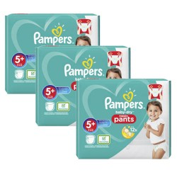170 Couches Pampers Baby Dry Pants taille 5+
