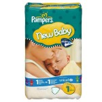 172 Couches Pampers New Baby Dry taille 1