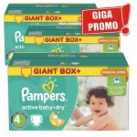 186 Couches Pampers Active Baby Dry taille 4