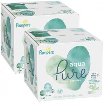 720 Lingettes Bébés Pampers Aqua Pure