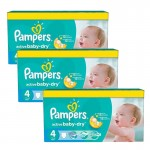 147 Couches Pampers Active Baby Dry taille 4