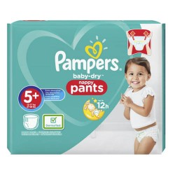 34 Couches Pampers Baby Dry Pants taille 5+