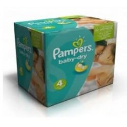 120 Couches Pampers Baby Dry taille 4