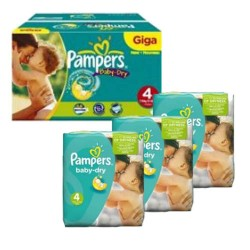 330 Couches Pampers Baby Dry taille 4