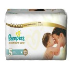 20 Couches Pampers Premium Care taille 5