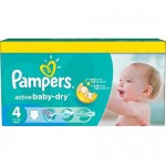 424 Couches Pampers Active Baby Dry taille 4