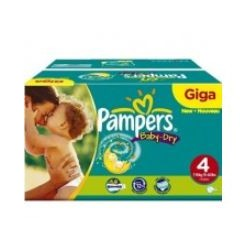 115 Couches Pampers Baby Dry taille 4