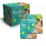 184 Couches Pampers Baby Dry taille 4