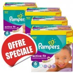 240 Couches Pampers Active Fit taille 6