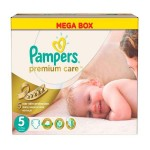 60 Couches Pampers Premium Care taille 5