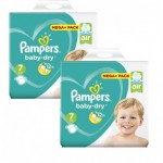 42 Couches Pampers Baby Dry taille 7