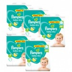 63 Couches Pampers Baby Dry taille 7
