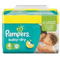 78 Couches Pampers Baby Dry taille 4