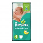 70 Couches Pampers Active Baby Dry taille 4
