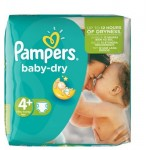 31 Couches Pampers Baby Dry taille 4+