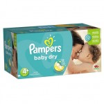 93 Couches Pampers Baby Dry taille 4+