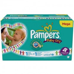 434 Couches Pampers Baby Dry taille 4+