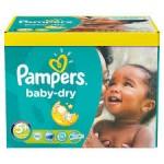 Pack économique 245 Couches Pampers de Baby Dry sur auchan