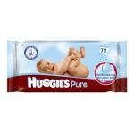 Pack de 72 Lingettes Bébés Huggies Pure sur auchan