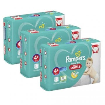 105 Couches Pampers Baby Dry Pants taille 4+