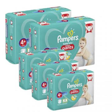 175 Couches Pampers Baby Dry Pants taille 4+