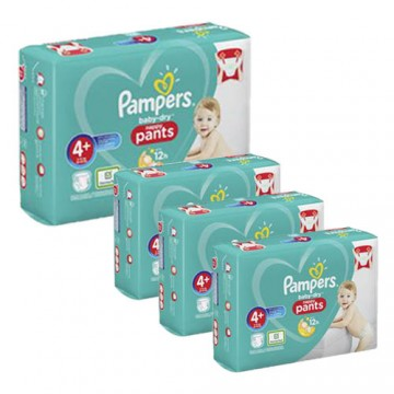 210 Couches Pampers Baby Dry Pants taille 4+