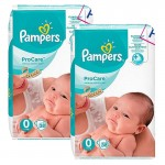 114 Couches Pampers ProCare Premium protection taille 0