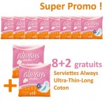 Pack 80 Serviettes hygiéniques Always Ultra Thin sur auchan