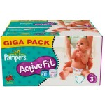 Pack économique 372 Couches Pampers Active Fit sur layota