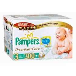 140 Couches Pampers Premium Care taille 3