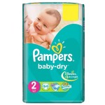 Pack 64 Couches Pampers de Baby Dry sur auchan