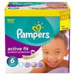 Pack de 192 Couches de Pampers Active Fit sur auchan