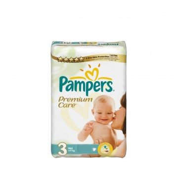 20 Couches Pampers Premium Care taille 3