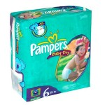 33 Couches Pampers Baby Dry taille 6