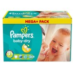 810 Couches Pampers Baby Dry taille 3