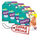 476 Couches Pampers Active Fit taille 3