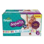 544 Couches Pampers Active Fit taille 3