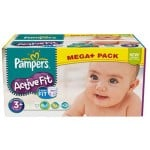 280 Couches Pampers Active Fit taille 3+
