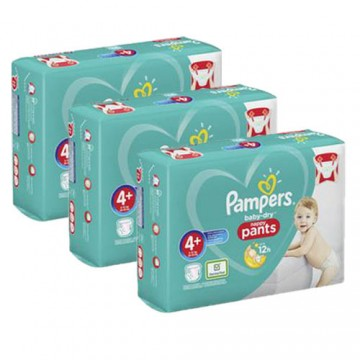 490 Couches Pampers Baby Dry Pants taille 4+